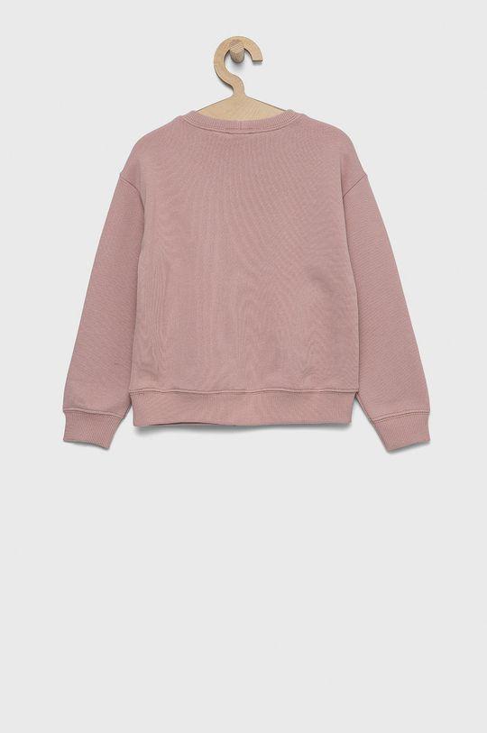 United Colors of Benetton - Bluza bawełniana dziecięca różowy