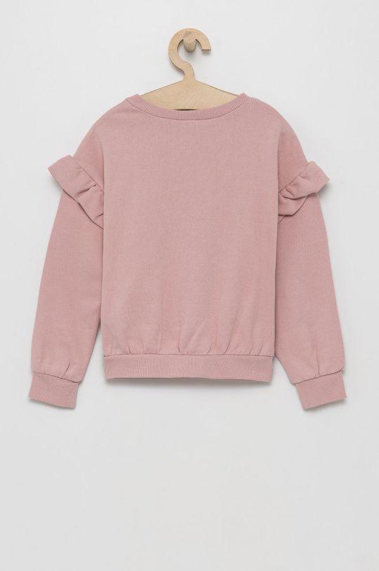 United Colors of Benetton - Hanorac de bumbac pentru copii roz