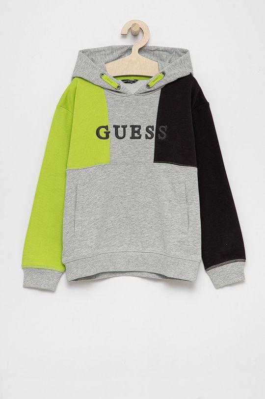 jasny szary Guess - Bluza bawełniana dziecięca Dziecięcy