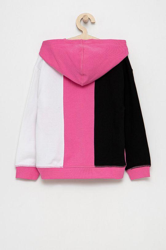 Guess - Bluza bawełniana dziecięca ostry różowy