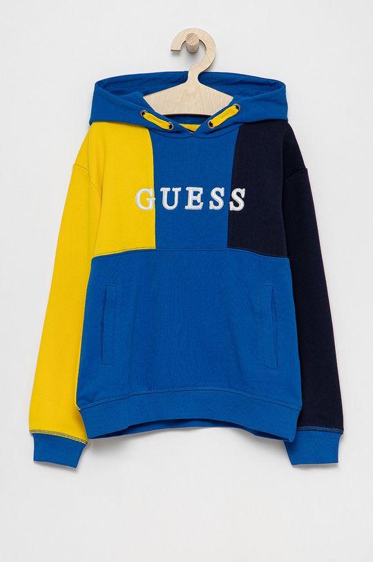 niebieski Guess - Bluza bawełniana dziecięca Dziecięcy