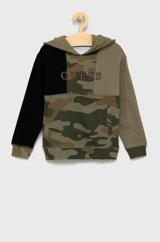 militarny Guess - Bluza bawełniana dziecięca Dziecięcy