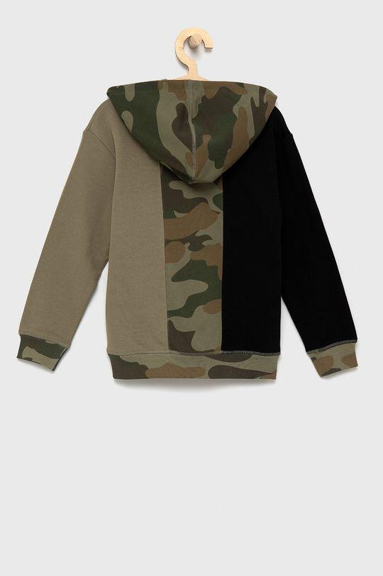 Guess - Bluza bawełniana dziecięca militarny