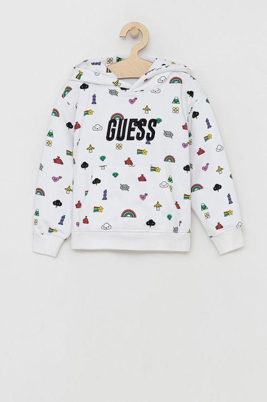 biały Guess - Bluza bawełniana dziecięca Dziecięcy