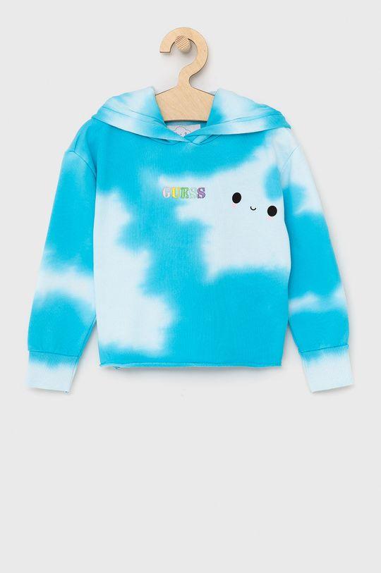 světle modrá Guess - Dětská bavlněná mikina Dětský