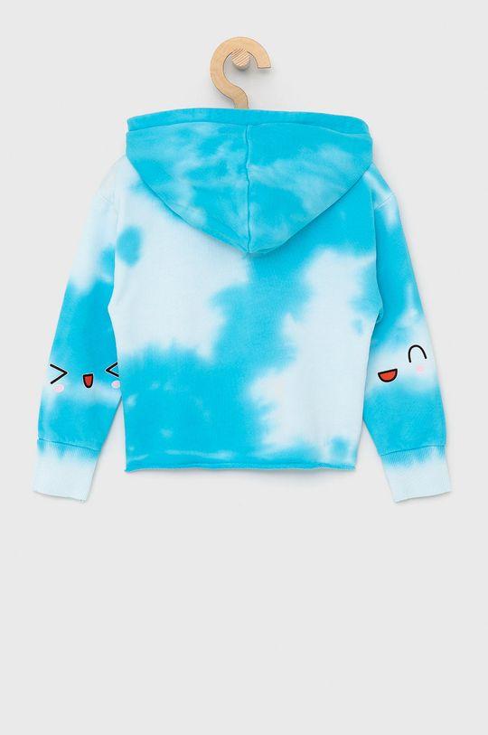Guess - Dětská bavlněná mikina světle modrá
