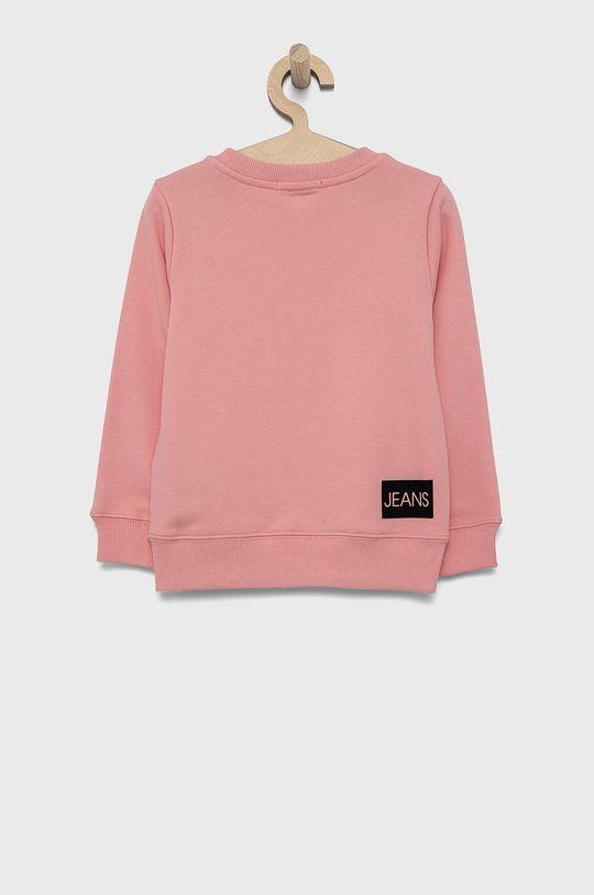 Calvin Klein Jeans - Hanorac de bumbac pentru copii roz