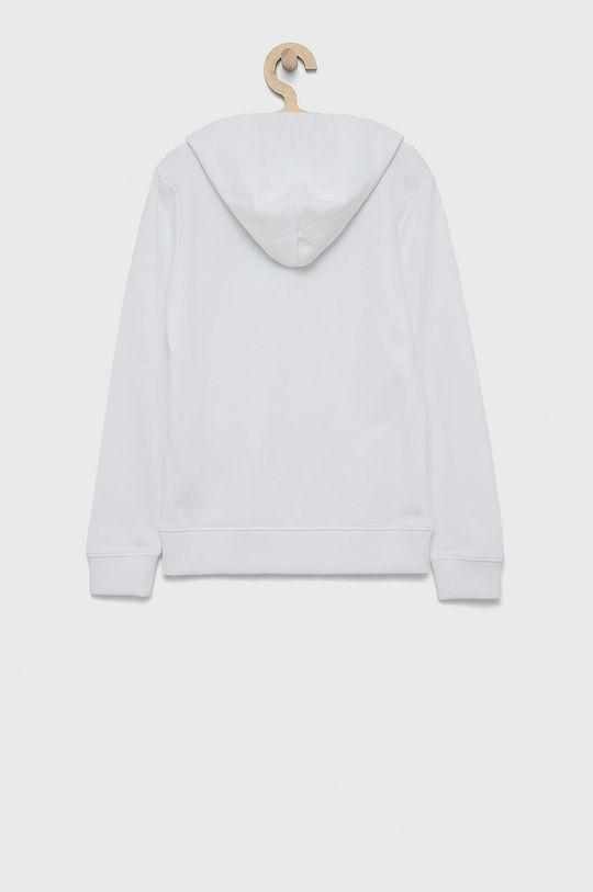 Calvin Klein Jeans - Hanorac de bumbac pentru copii alb