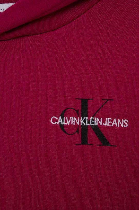 Calvin Klein Jeans - Hanorac de bumbac pentru copii  Materialul de baza: 100% Bumbac Banda elastica: 98% Bumbac, 2% Elastan