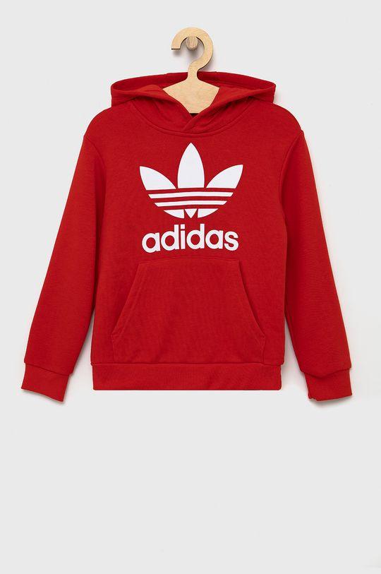 czerwony adidas Originals - Bluza dziecięca Dziecięcy