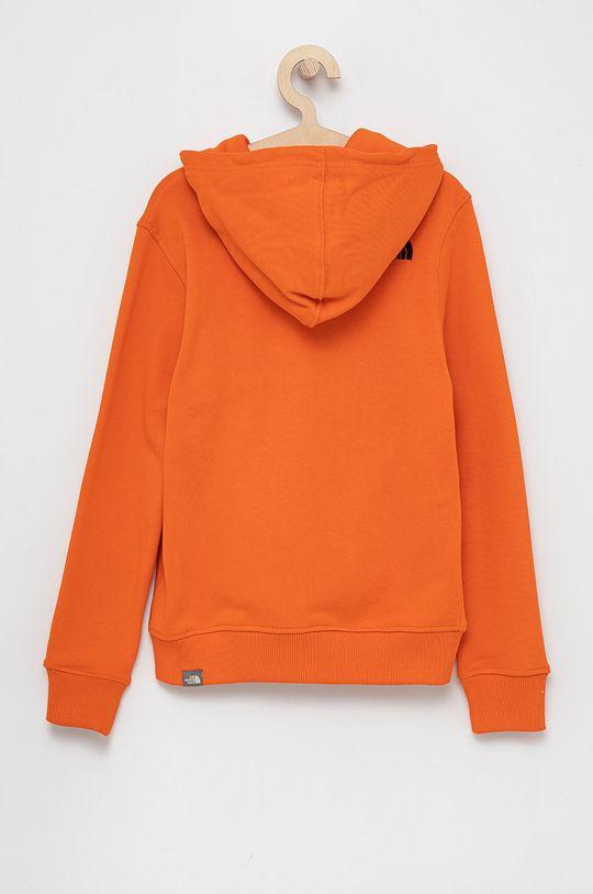 The North Face - Bluza bawełniana dziecięca pomarańczowy