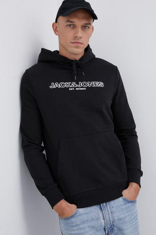 czarny Jack & Jones - Bluza Męski