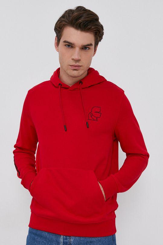 czerwony Karl Lagerfeld - Bluza Męski