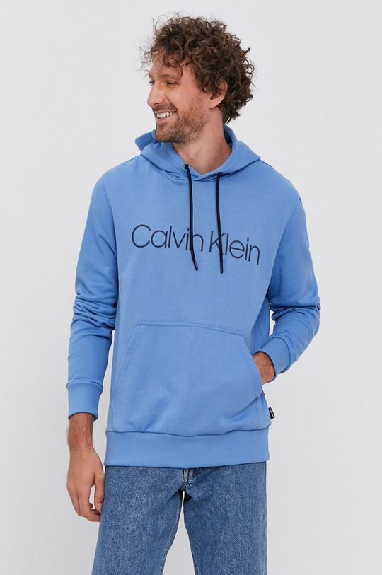 niebieski Calvin Klein - Bluza Męski