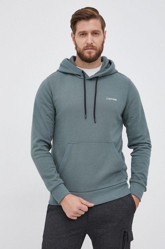 zielony Calvin Klein - Bluza Męski