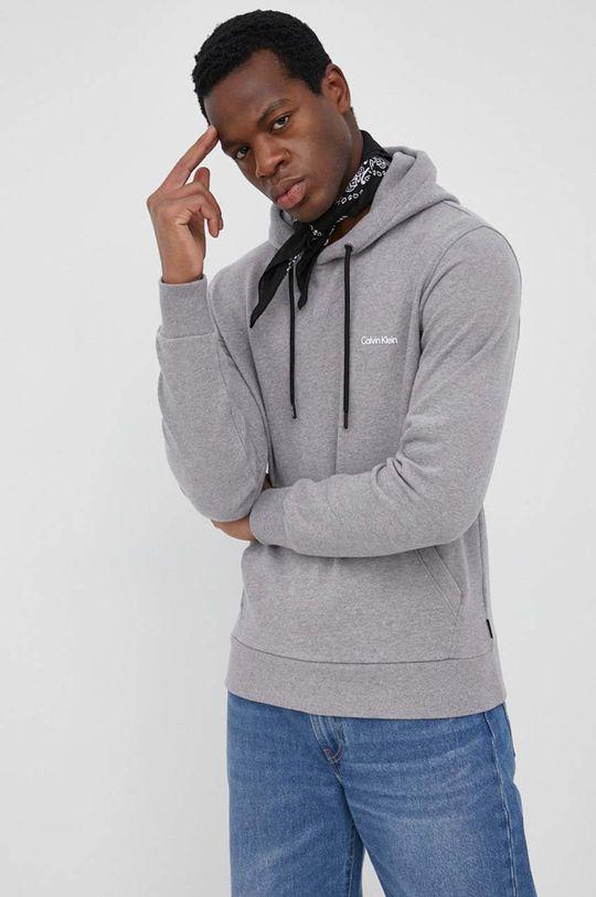 szary Calvin Klein - Bluza Męski