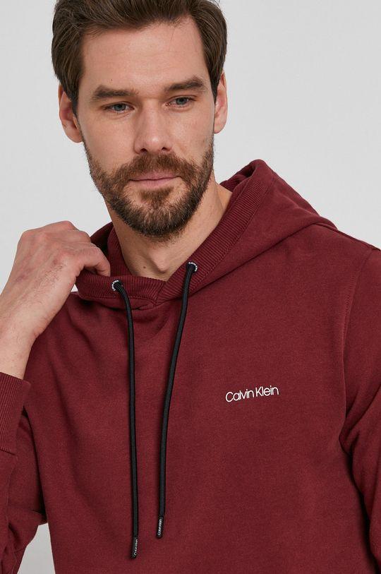 mahoniowy Calvin Klein - Bluza