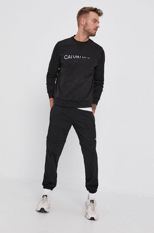 čierna Calvin Klein - Bavlnená mikina Pánsky