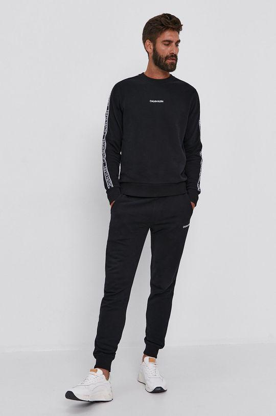 černá Calvin Klein - Bavlněná mikina Pánský