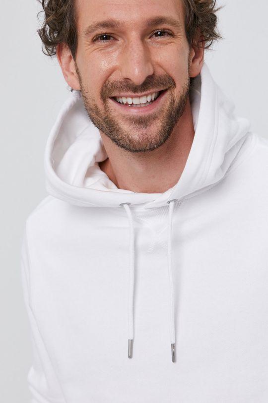 biela Calvin Klein Jeans - Bavlnená mikina