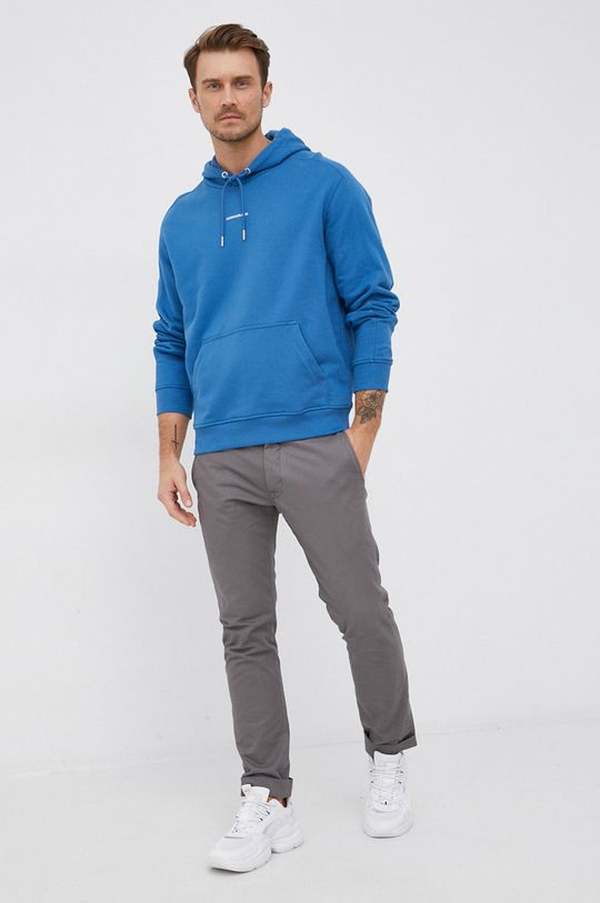 Calvin Klein Jeans - Bluza bawełniana niebieski
