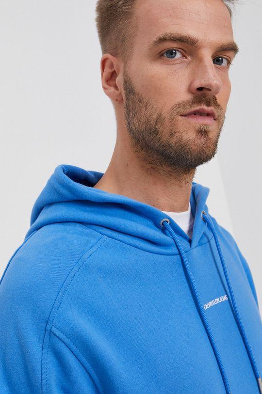 niebieski Calvin Klein Jeans - Bluza bawełniana