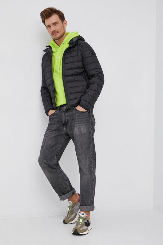 Calvin Klein Jeans - Bluza bawełniana żółto - zielony