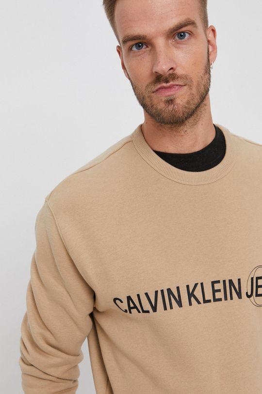 beżowy Calvin Klein Jeans - Bluza