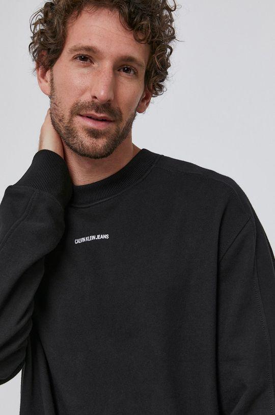 černá Calvin Klein Jeans - Bavlněná mikina Pánský