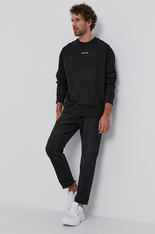Calvin Klein Jeans - Bavlněná mikina černá