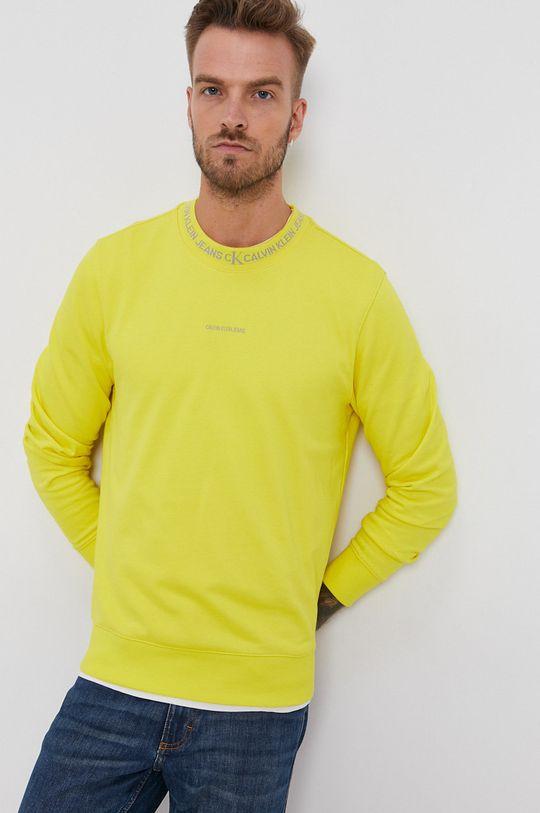 Calvin Klein Jeans - Bluza bawełniana żółty