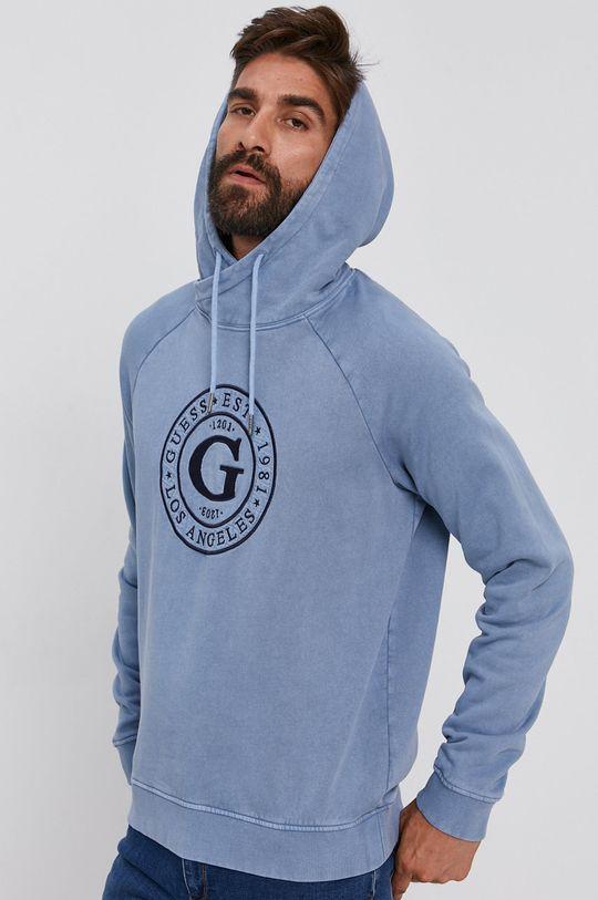 světle modrá Guess - Bavlněná mikina