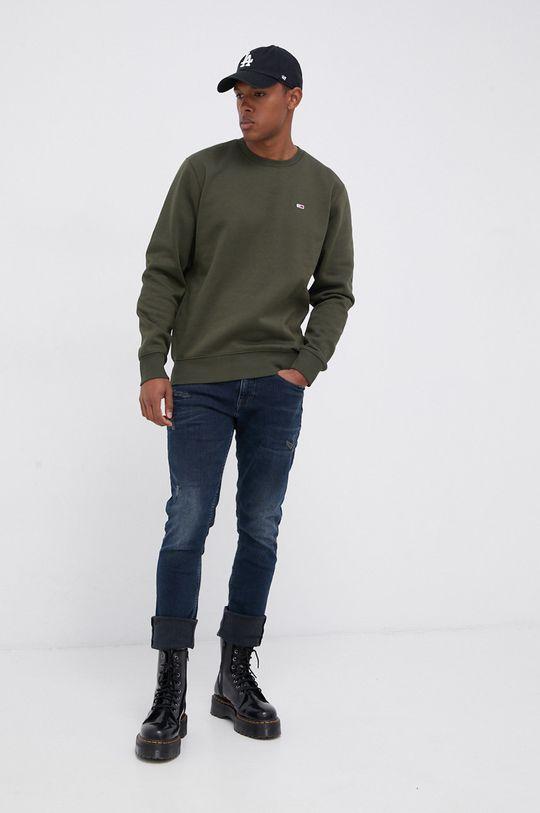Tommy Jeans - Bluza oliwkowy