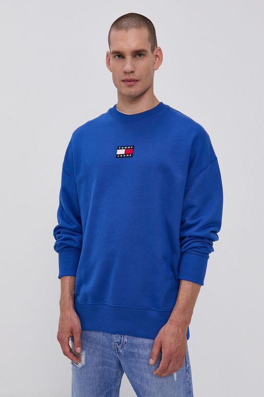 modrá Tommy Jeans - Bavlněná mikina Pánský