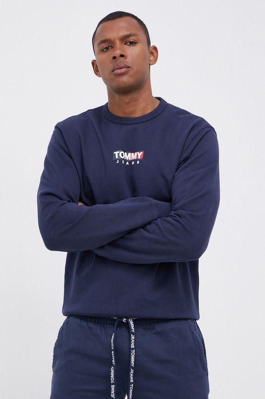 granatowy Tommy Jeans - Bluza bawełniana Męski