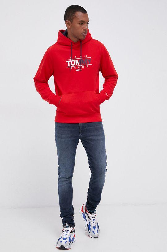 czerwony Tommy Jeans - Bluza bawełniana Męski
