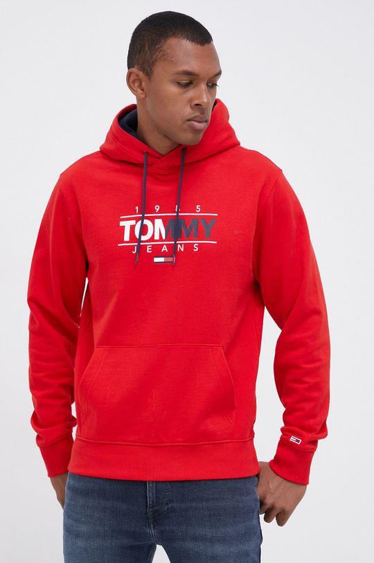 Tommy Jeans - Bluza bawełniana czerwony