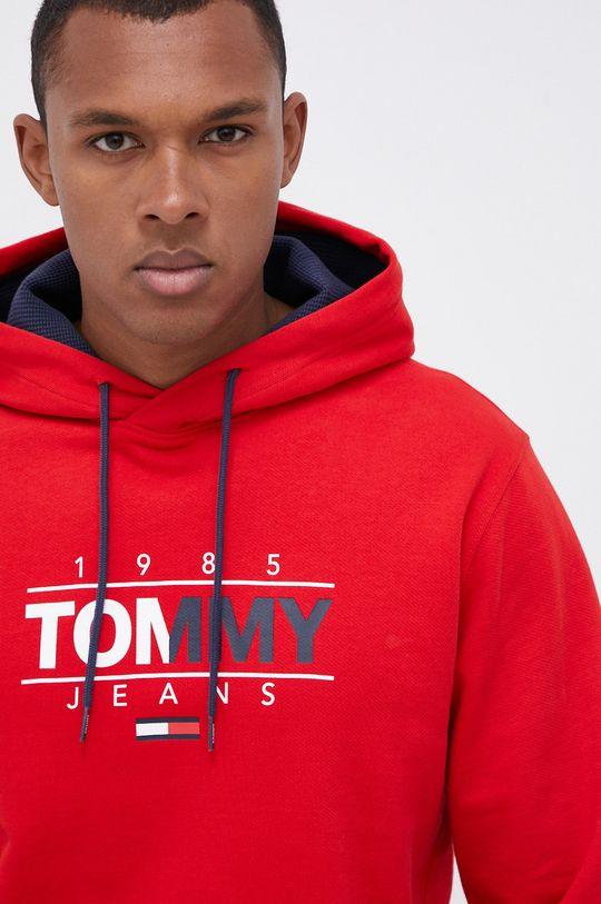 czerwony Tommy Jeans - Bluza bawełniana