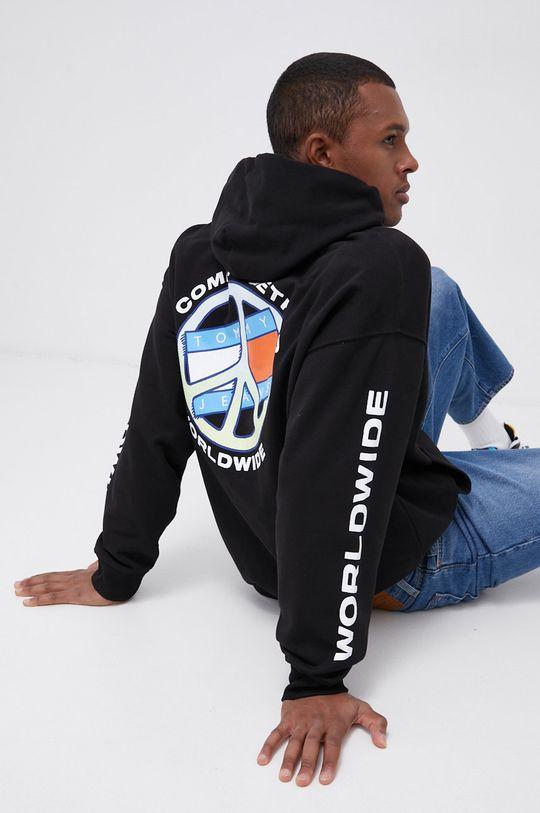czarny Tommy Jeans - Bluza bawełniana Męski