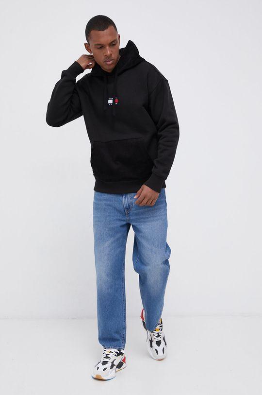 Tommy Jeans - Bluza bawełniana czarny