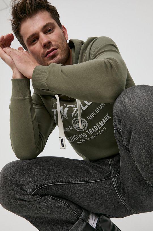 zielony Tom Tailor - Bluza bawełniana Męski