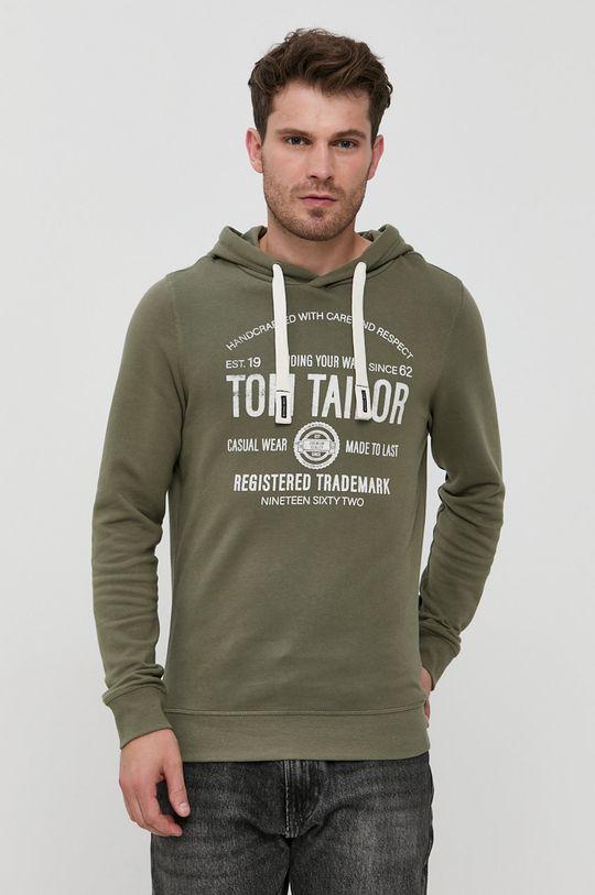 zielony Tom Tailor - Bluza bawełniana