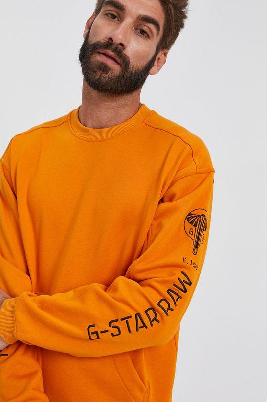 oranžová G-Star Raw - Mikina Pánský