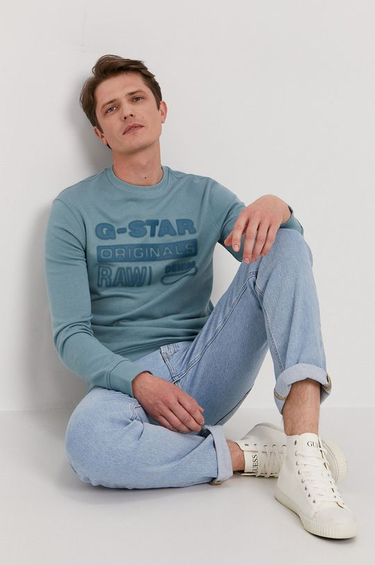niebieski G-Star Raw - Bluza Męski