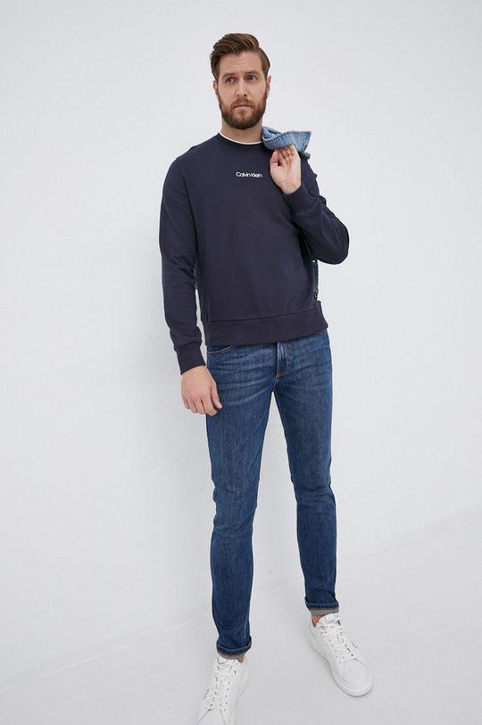 Calvin Klein - Bluza bawełniana granatowy