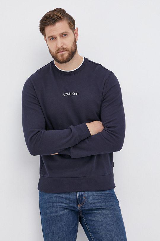 granatowy Calvin Klein - Bluza bawełniana