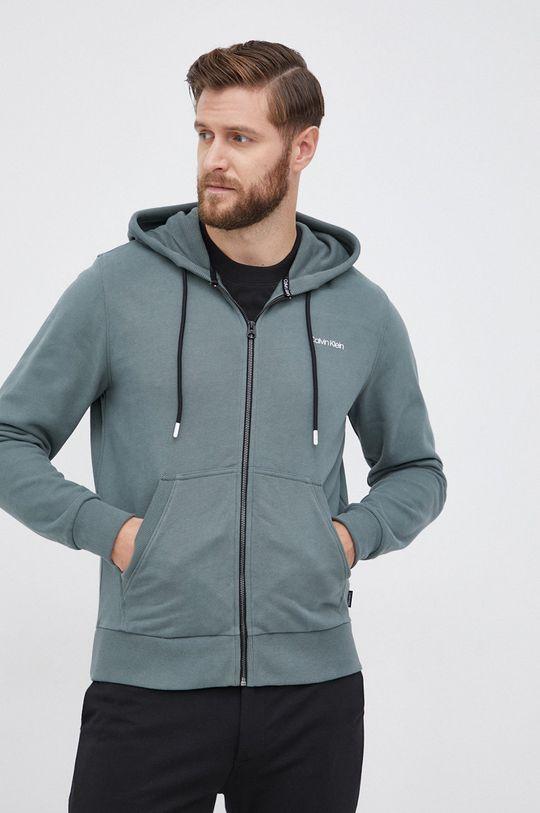 zielony Calvin Klein - Bluza bawełniana Męski