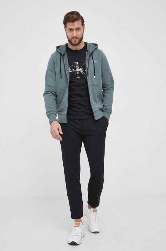 Calvin Klein - Bluza bawełniana zielony