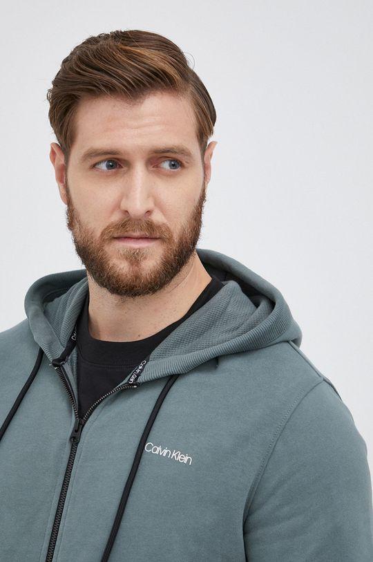 zielony Calvin Klein - Bluza bawełniana