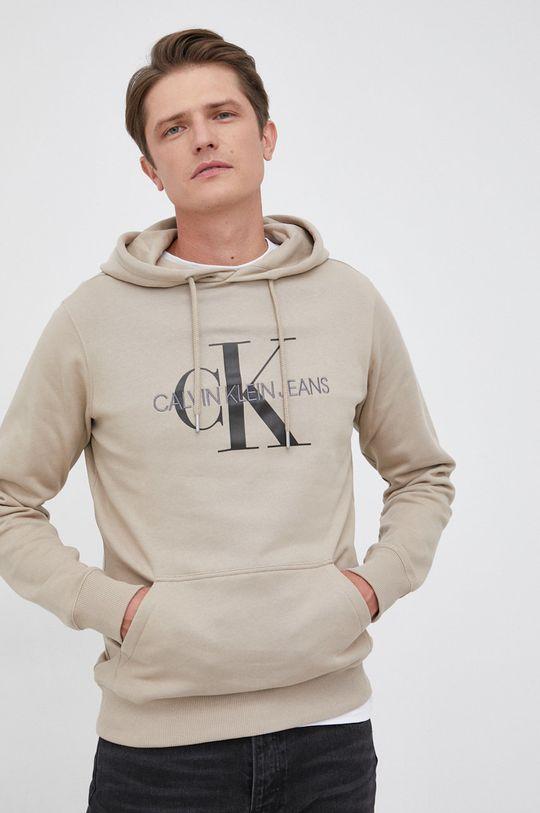 beżowy Calvin Klein Jeans - Bluza bawełniana